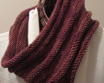 Cherry Cola Hand-Knit Cowl