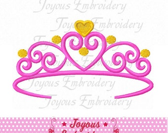 Instant Download Princess Crown Digital Machine Embroidery Design NO:2166