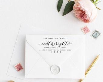 Custom Return Address Stamp, Self Ink Return Address Stamp, Personalized Address Stamp, Calligraphy Address Stamp Return Address Stamp No22