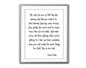 SALE-My Wish For You Song Lyrics-Digital Print-Wall Art-Digital Designs-Typography- Lyrics Printable- Literature Print-Country Music Lyrics