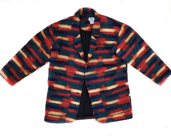 Aiger/ Women's/ Trendy/ Boho/ Chic// Indian Blanket/ Southwestern/ Print/ Blazer/ Jacket/ Size Small