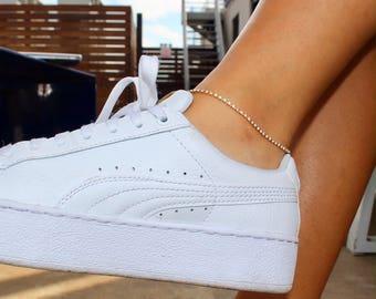 Rhinestone Anklet / Dainty Anklet / Dainty Rhinestone Anklet / Gift Idea / Birthday Idea / Crystal Anklet / Diamond Anklet / Layered Anklet