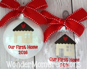 Our First Home Christmas Ornament; Our New Home Christmas Ornament; New House Ornament; Real Estate Agent Christmas; Housewarming Ornament