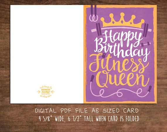 fitness birthday cards