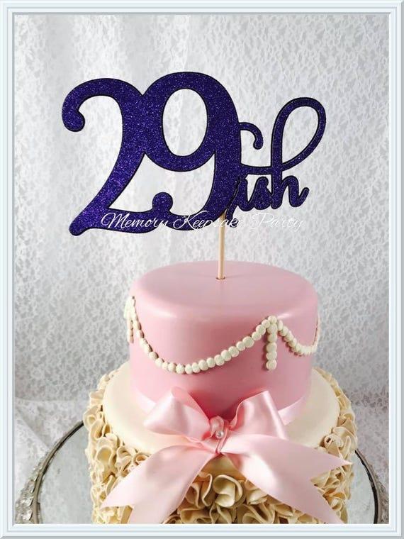 Age Birthday Cake Topper 29th Birthday Cake Topper Age