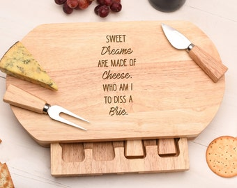 Birthday Gift for  Cheese lover, Cheese Board Gift Set. A Cheesy Gift. CB