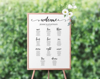 "Seating Chart 18""x24"" 