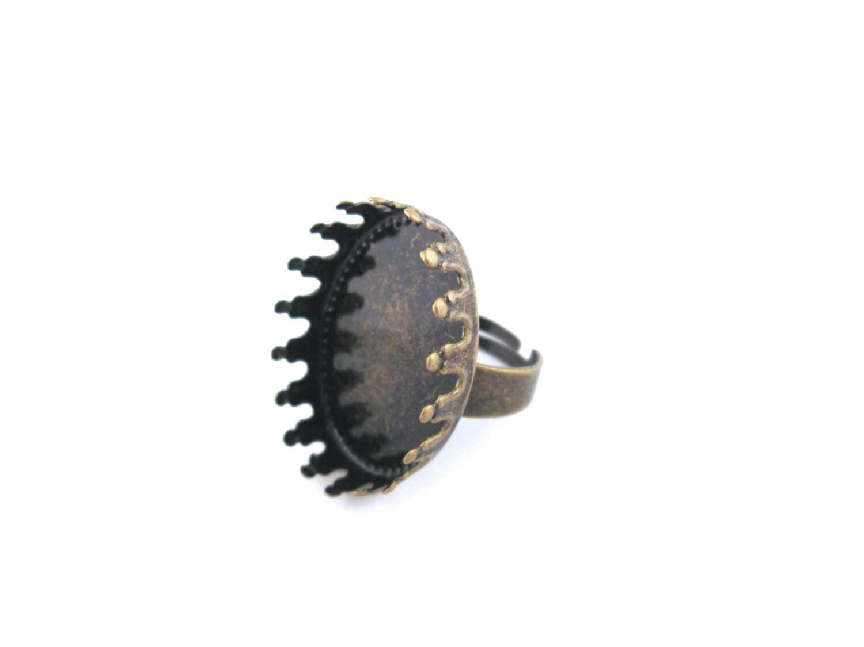 Brass Prong Setting Ring Bezel Blank