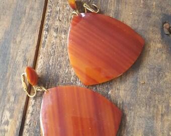 Vintage Dangle Drop Triangular Earrings