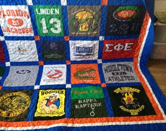 Tshirt Quilts Custom memory blanket (deposit) FREE SHIPPING