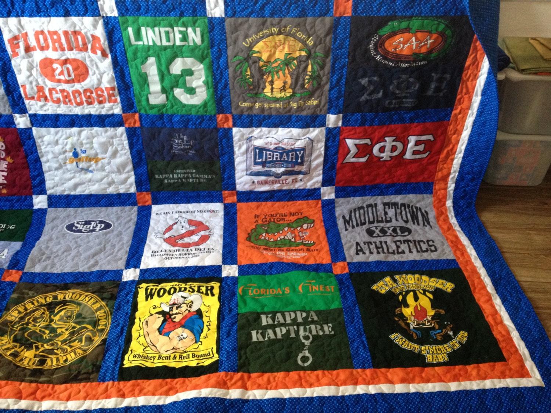 Tshirt Quilts Custom Memory Blanket Deposit Free Shipping