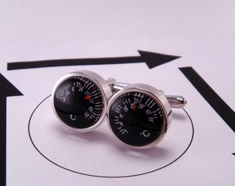 Functional Thermometer Celsius Temperature Cuff Links Cufflinks