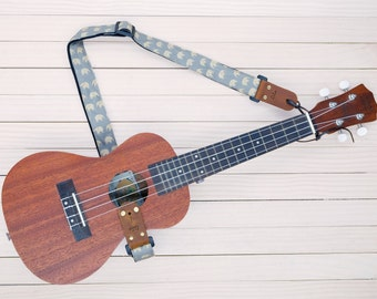 Little Elephants Gray UkuleleStrap 3in1