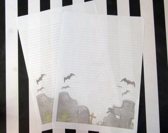 Simple corner grave yard writing paper for penpaling or journaling