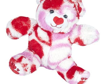 Recordable VALENTINE BEAR w/ 20 sec. digital recorder, recordable stuffed animal, personalized teddy bear