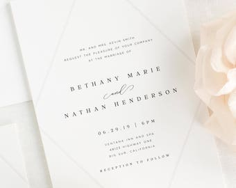Bethany Wedding Invitation - Deposit