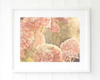 Gifts for her, pink hydrangea wall art, botanical print, botanical wall art prints, pink hydrangea, pink hydrangeas art, pink hydrangeas