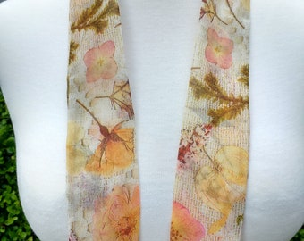 Skinny Scarf, floral scarves,Roses and Lace, scarves for women, neck scarf, neck tie, flower garden scarf, wrap