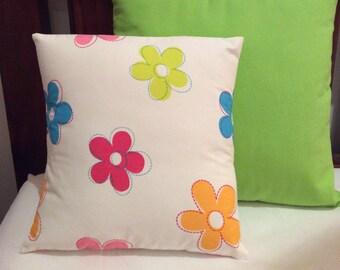 Girls Multi Colour Floral  Cushion Cover 34cm x 34cm