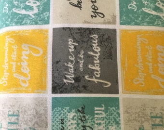 Inspirational flannel fabric