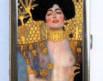 Klimt Judith Cigarette Case Wallet Business Card Holder Art Nouveau