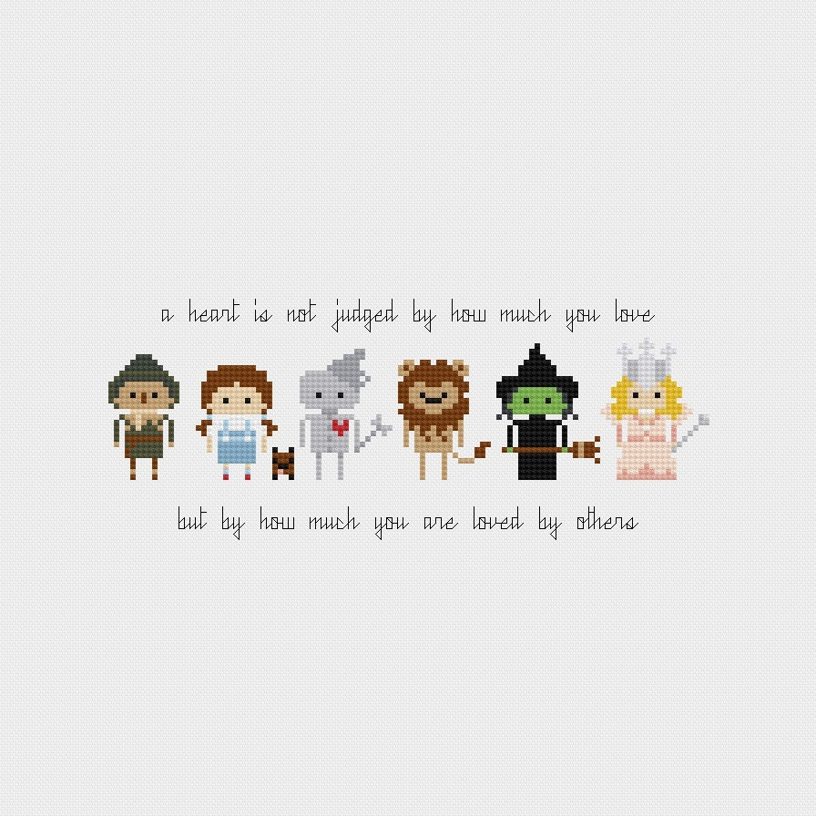 Quote Wizard The Wizard Of Oz Quote Cross Stitch Pattern Pdf Instant