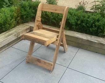 Rustic Handmade Pallet Folding Chair
