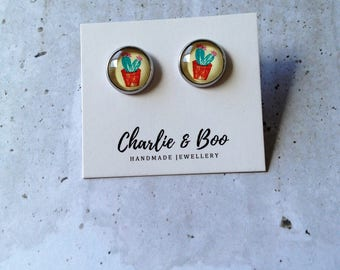 Cactus Studs - Cactus Earring - Cactus Jewellery - Succulent Earrings - Succulent Studs - Succulent Jewellery - Cacti Studs - Cacti Earrings