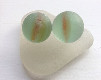 Scottish Sea Glass Cat Eye Marbles