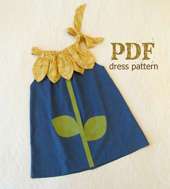 Sunny Flower Pillowcase Dress Pdf Pattern Tutorial Easy Sew