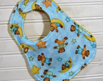 Bib - Baby Bib - Sweet Dreams Teddy Bear Bib - Shower Gift for Baby Boy - Handmade Bib