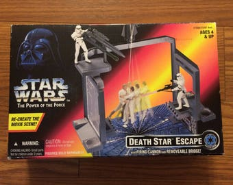 Vintage Star Wars The Power of the Force Death Star Escape Set 1996