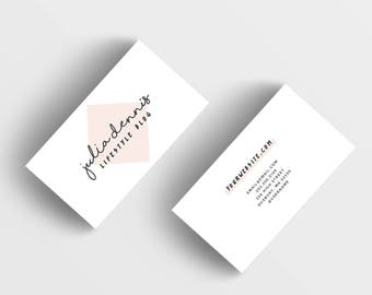 Girly business card etsy pink business card design customized ready to print calling card modern business branding simple business card photography business card colourmoves