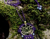 Lotus Flower Macrame Pend...