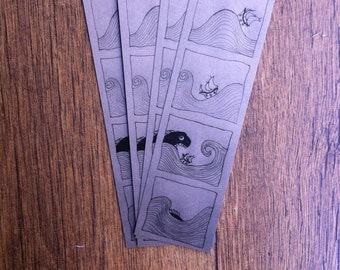 The fish and the boat bookmark - absurd humor