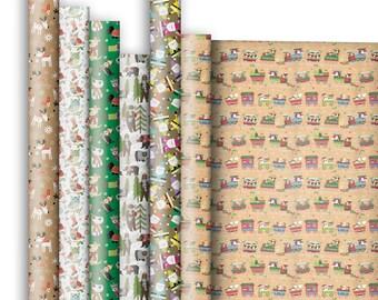 Jillson & Roberts Premium Gift Wrap Roll Assortment, Christmas Designs (6 Rolls)