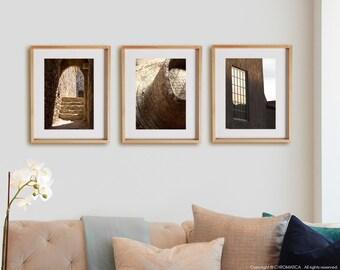 Ochre 3V Print Collection.  Detail photography, urban decor, wall art, artwork, large format photo.