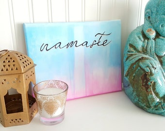 Pilates Art, Namaste, Gift for Her, momlife, Yoga Studio Decor, Living Room Decor, Meditation, Zen Artwork, Anxiety Art, Gift for Christmas