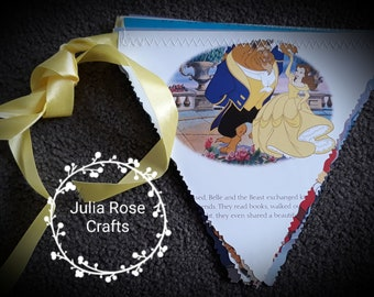 Old children's book paper bunting for indoor wall hanging
