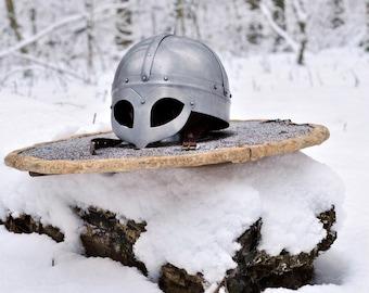 Steel Helmet ( LARP - SCA - Armor - Viking - Medieval)