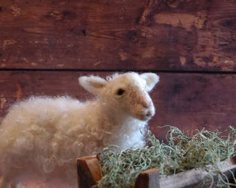 Needle Felted Sheep - Made To Order - Wool Animal Sculpture -