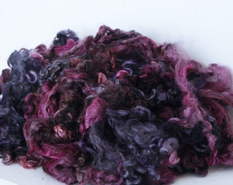 DRAGON BLOOD - HAND Dyed Gotland Locks ~ Hand dyed suitable for spinning, weaving, felting & doll making
