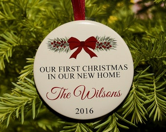 First Christmas In Our New Home Christmas Ornament - Customized - C132