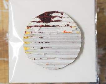 Corrugated Circle Painting II (extra small)
