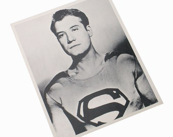 Superman George Reeves 1951 Collectible Publicity Photo Studio Copy