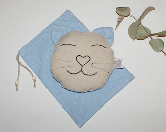 Hot/cold Pack dry cat organic linen, organic cotton & organic flaxseeds with its matching pouch
