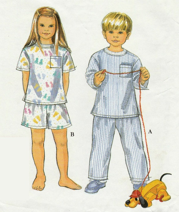 Patrones de costura simplicidad 8490, pijama corto o largo, tapas de ...