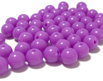 BULK QUANITITES 8mm Smooth Round Acrylic Beads in Orchid 200 beads