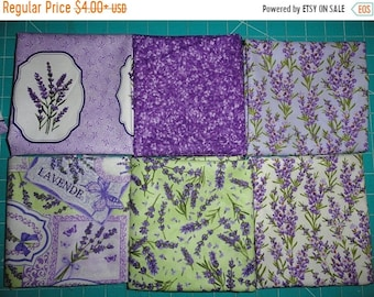 Lavender Fabric, Fat Quarters, Sachets, Gift Ideas, Mix and Match, Cotton Fabric, Quilting and Sewing, Lavender Flowers, Fabric Charms