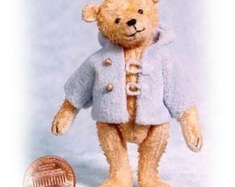 Charley Boy Miniature Teddy Bear Kit - Pattern - by Emily Farmer